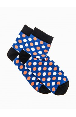 Patterned men's socks U09 - голубой