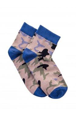 Men's socks U10 - голубой-камуфляжный