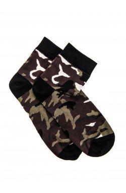 Men's socks U10 - зеленый-камуфляжный