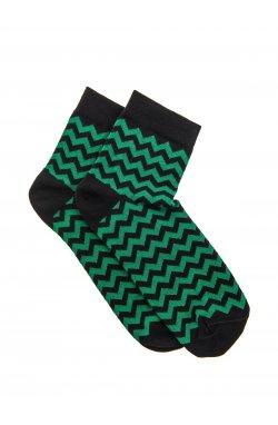 Patterned men's socks U11 - зеленый