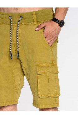 Men's cargo shorts P527 - Горчичный