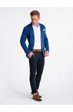 Elegant men's blazer M81 - голубой