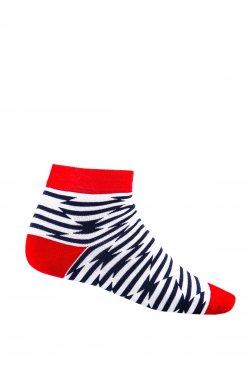 Patterned men's socks U13 - Белый