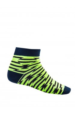 Patterned men's socks U13 - зеленый