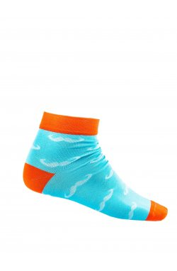 Patterned men's socks U15 - светло - голубой