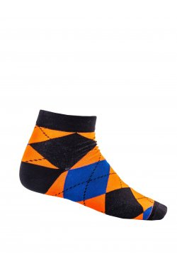 Patterned men's socks U16 - оранжевый