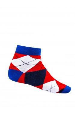 Patterned men's socks U16 - красный