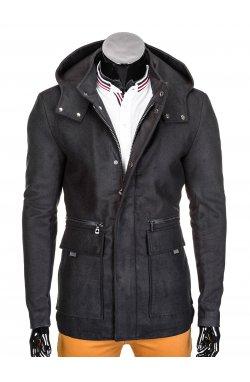 Men's coat C281 - черный