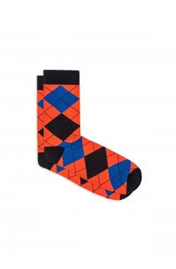 Patterned men's socks U18 - оранжевый