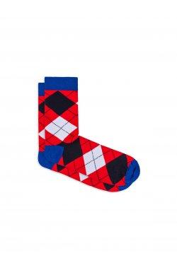 Patterned men's socks U18 - красный