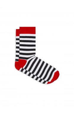 Patterned men's socks U19 - черный/Белый