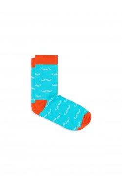 Patterned men's socks U20 - светло - голубой