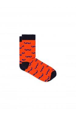 Patterned men's socks U20 - оранжевый