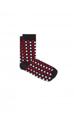 Patterned men's socks U21 - черный