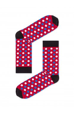 Patterned men's socks U21 - красный