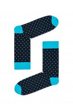 Patterned men's socks U22 - голубой