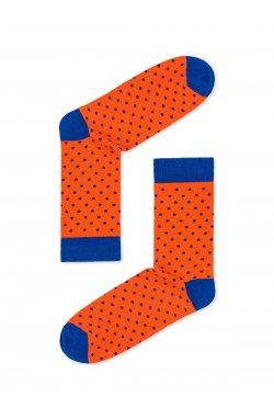 Patterned men's socks U22 - оранжевый