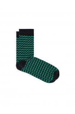 Patterned men's socks U24 - зеленый
