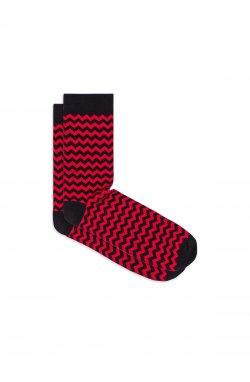 Patterned men's socks U24 - красный