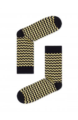 Patterned men's socks U24 - желтый