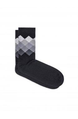 Patterned men's socks U25 - Серый