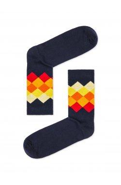 Patterned men's socks U25 - желтый