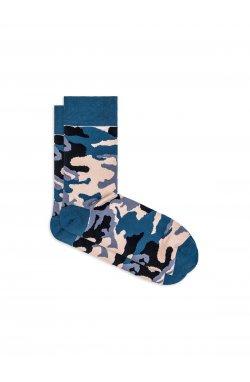 Patterned men's socks U26 - камуфляжный/голубой