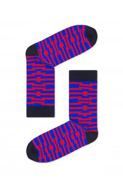 Patterned men's socks U27 - голубой