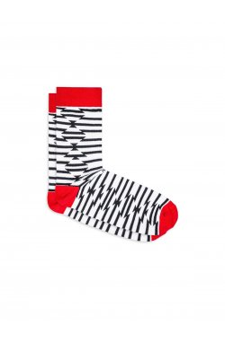 Patterned men's socks U27 - Белый