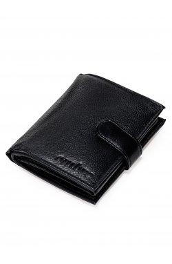 Men's leather wallet A084 - черный