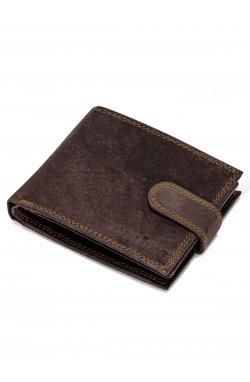 Men's leather wallet A087 - коричневый