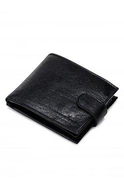 Men's leather wallet A089 - черный