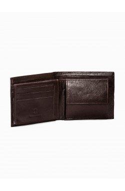 Men's leather wallet A090 - коричневый