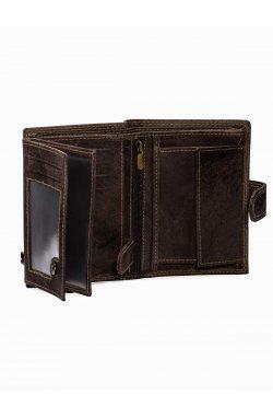 Men's leather wallet A091 - коричневый