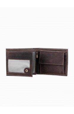 Men's leather wallet A092 - коричневый