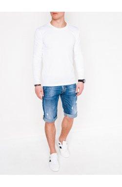 Men's plain longsleeve L112 - Белый