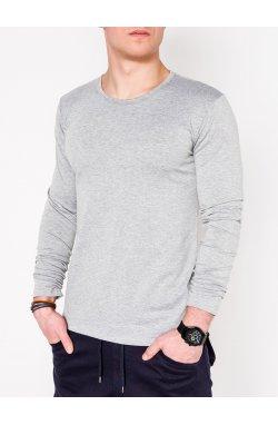 Men's plain longsleeve L114 - Серый