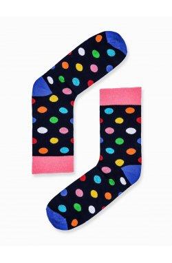 Men's patterned socks U45 - Синий
