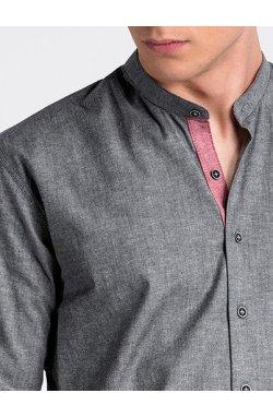 Рубашка мужская R488 - Темно- Серый