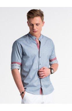 Рубашка мужская R488 - голубой
