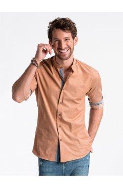 Рубашка мужская R488 - Рыжий