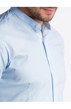 Рубашка мужская R497 - светло - голубой