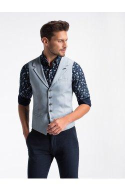 Men's vest V46 - светло - голубой