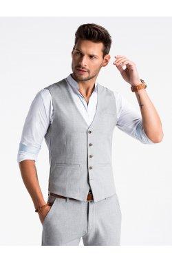 Men's vest V47 - светло - Серый