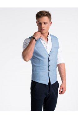 Men's vest V48 - голубой