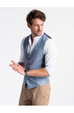 Men's vest V48 - Темно- голубой