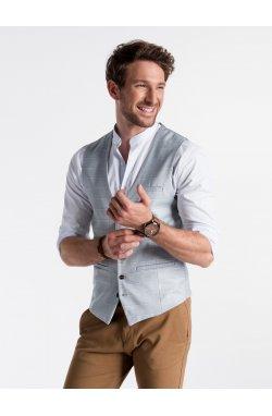 Men's vest V48 - светло - голубой