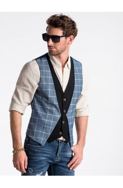 Men's vest V49 - голубой