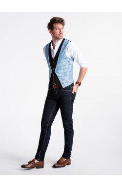 Men's vest V49 - светло - голубой