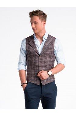 Men's vest V51 - Темно- красный